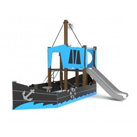 gioco nave dei pirati con una torretta