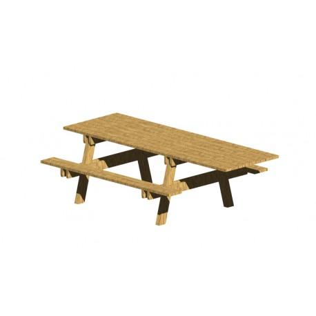 Tavolo pic-nic accessibile