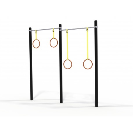 29SXWO1M-1.08 DOUBLE GYMNASTIC RINGS
