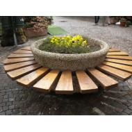 fioriera in calcestruzzo con seduta