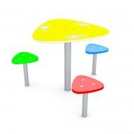 29VP0816 Tavolino e sedute giochi per parchi